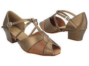 "6006 59 Copper PU_X_133 Coffee Brown PU_X-Strap Arch with 1.5"" Heel in the photo"