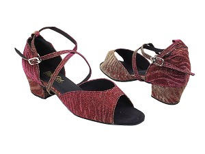 "6012 96 Red Illusion_1601 BackStrap with 1.5"" Medium Heel in the photo"