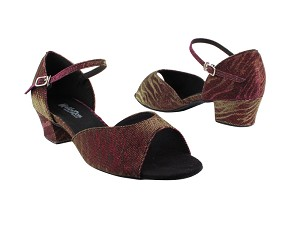 "6012 96 Red Illusion_2709 BackStrap with 1.5"" Medium Heel in the photo"