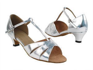 6016 55 Silver PU_Whole Shoes