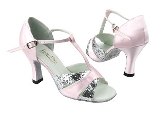 6016 7 Silver Sparkle_233 Light Pink Satin