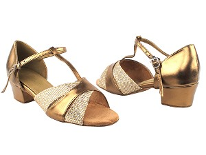 6016 74 Gold Sparklenet_171 Dark Tan Gold