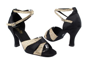 6016 Gold Sparklenet_S_Black Satin_2701 BackStra