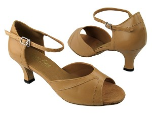 "6024 157 Beige Brown Leather with 2.5"" Low heel in the photo"