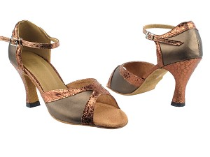 "6024 59 Copper Leather_206 Ultra Copper Trim with 3"" Heel in the photo"