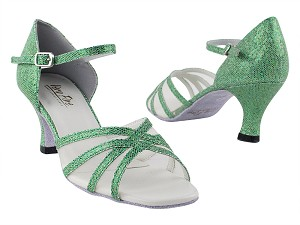 "6027 279 Green Scale_Flesh Mesh with 2.5"" Heel in th photo"