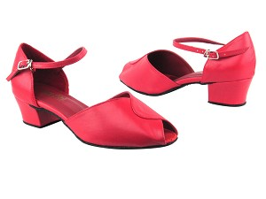 "6028 211 Red PU with 1.5"" Medium Heel in the photo"