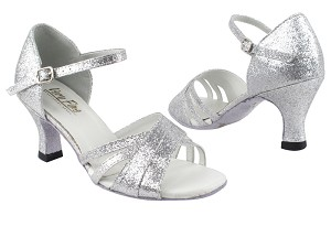 "6030 126 Silver Stardust with 2.5"" Heel in the photo"