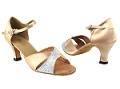 6030 6 Silver Sparklenet_135 Light Brown Satin