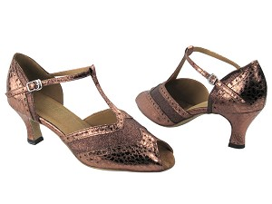"6034 212 Copper Stardust & 206 Ultra Copper with 2.5"" Low Heel in the photo"