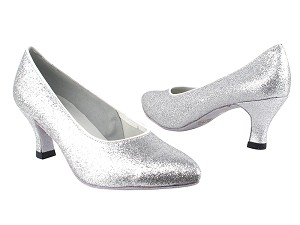 "6901 126 Silver Stardust with 2.5"" Heel in the photo"