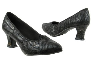 "6901 85 Black Snake with 2.2"" Thick Cuban Heel in the photo"