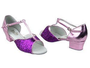 801 Purple Sparkle & 150 Purple PU