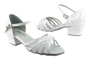 "802 210 White Patent with 1.5"" Medium Heel in the photo"