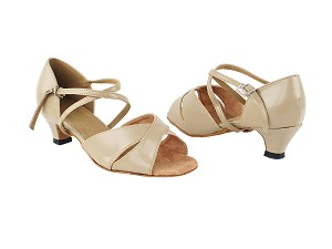 "803_6029 60 Tan PU_1670C BackStrap with 1.3"" Cuban Heel in the photo"