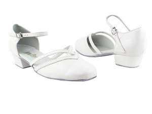 8881 White Leather_Whole Shoes