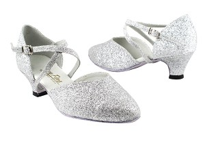 "9691 126 Silver Stardust with 1.3"" Heel in the photo"