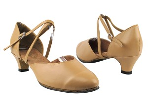 "9691 157 Beige Brown Leather with 1.3"" Heel in the photo"