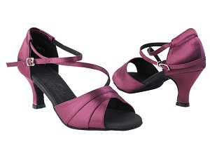 "C1659 119 Purple Satin with 2.5"" low heel in the photo"