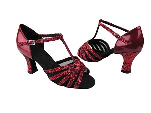 C16612 Red Sparkle & Red Patent