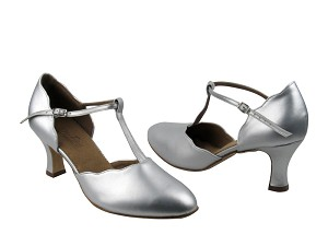 "C6819 Silver Leather with 2.5"" Heel in the photo"