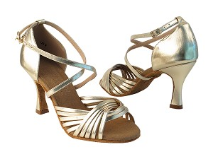 "S1001 191 Light Gold PU with 3"" Heel in the photo"