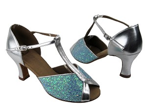 S2804 BF23 Light Blue Sparkle_Silver Leather