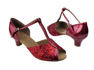 S2804 Red Sparkle & Red Patent
