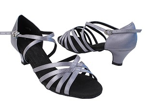 S9216 180 Grey Satin with 1.3 inch Cuban Heel in the photo