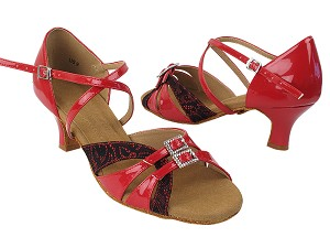 S92307 257 Red Black Lace_264 Red Patent