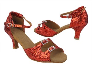 "SERA1620 Red Sparkle_Stone with 2.5"" Heel (2040) in the photo"