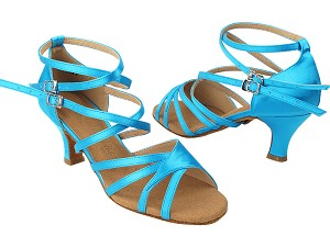 SERA1662B 120 Blue Satin with 2.5 inch Heel (Heel Code 2040) in the photo