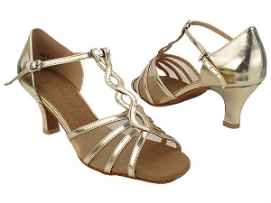 "SERA1692 191 Light Gold Leather_Flesh Mesh with 2.5"" Heel (2040) in the photo"