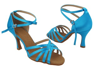 SERA2613 120 Light Blue Satin with 3 inch Heel (5059) in the photo