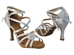 "SERA5008 10 Silver Stardust with 3"" heel in the photo"