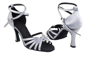 "SERA6005 180 Grey Satin with 3"" Heel in the photo"