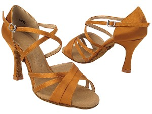 SERA6030 210 Dark Tan Satin_X-Strap Arch