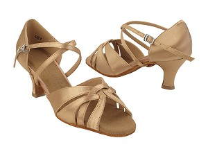 "SERA6721 77 Beige Satin_X-Strap Arch with 2.5"" Heel (2040) in the photo"
