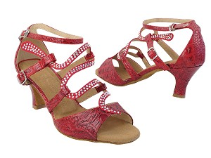 "SERA7017 236 Red Crocodile with (2040) 2.5"" Heel in the photo"