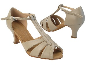 "SERA7037 219 Beige Nanofiber Faux Leather with 2.5"" Heel in the photo"