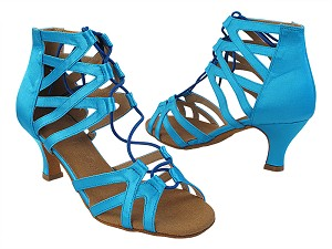 SERA7038 120 Blue Satin with Women's 2.5 inch Low Heel in the photo