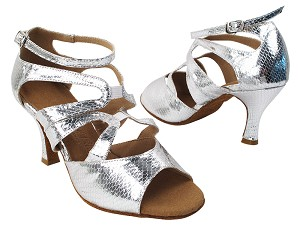 SERA7039 87 Snake Silver with Women's 2.75 inch Heel (Heel Code 11006) in the photo