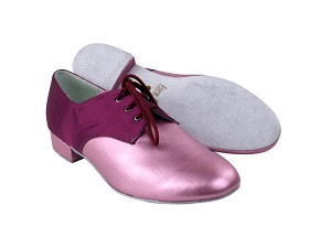 "916103 161 Soft Purple PU & 111 Purple Satin with 1"" Heel in the photo"