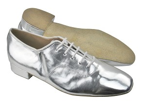 "917101 Silver Leather with 1"" Standard heel in the photo"