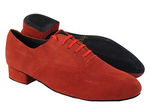 "919101 284 Red Suede with 1"" Standard Heel in the photo"