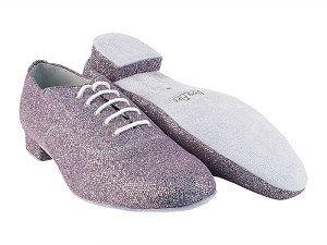 "919101 99 Light Purple Sparklenet with 1"" Standard Heel in the photo"