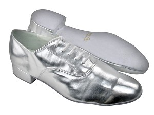 "919101 Silver Leather with 1"" Standard heel in the photo"
