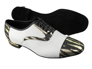 C916102 BD40 Zebra Black_F_B_White Leather_M
