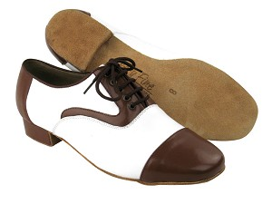 C916102 BB25 Dark Tan Leather & BB12 White Leather & Brown Sole