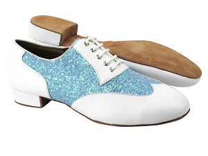 CM100101 BB12 White Leather_BF23 Light Blue Sparkle